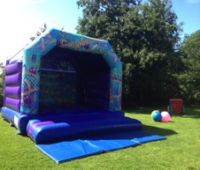 Bouncy castles to hire for weddings in Gloucester, Tetbury, Kingscote, Stroud and the Cotswolds from Cheltenham bouncy castle hire company All about fun uk.com