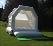 white bouncy castle for hire ~ all about fun uk weddings ~ 01242 235273 ~ cheltenham bouncy castles hire for weddings