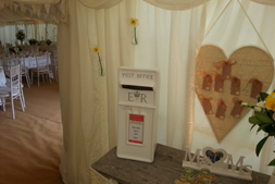 The replica post box is the ultimate wedding finishing touch that is personalised to you for your wedding day.