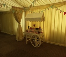fun foods such as candy carts and candy buffets are available to hire from wedding hire company all about fun uk.com