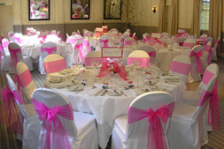 Quality chair dressers and competitive chair cover hire charges @ all about fun uk - weddings.