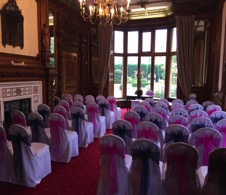 Chair covers | wedding chair covers | chair cover hire | Gloucestershire chair cover hire | Cheltenham and Gloucester chair cover dressers