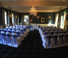 Chair cover hire @ All about fun uk weddings | wedding chair covers available throughout Gloucestershire.